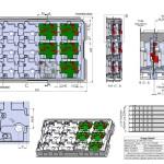CAD-Zeichnung einer Tiefziehpalette