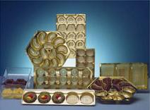 Dekorative Tiefzieheinsätze für die Süßwarenindustrie