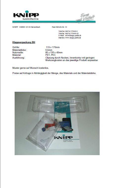 Klappverpackungen BH