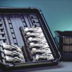 Selbststapelbare Transportpalette aus ABS, hergestellt im 3-K-Verfahren