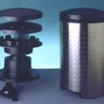 Staubsaugergehäuse mit Innenleben aus tiefgezogenen Kunststoffteilen
